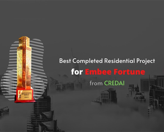 Best Completed Residential Project Award for Embee Fortune